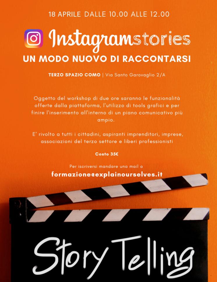 corso instagram stories como